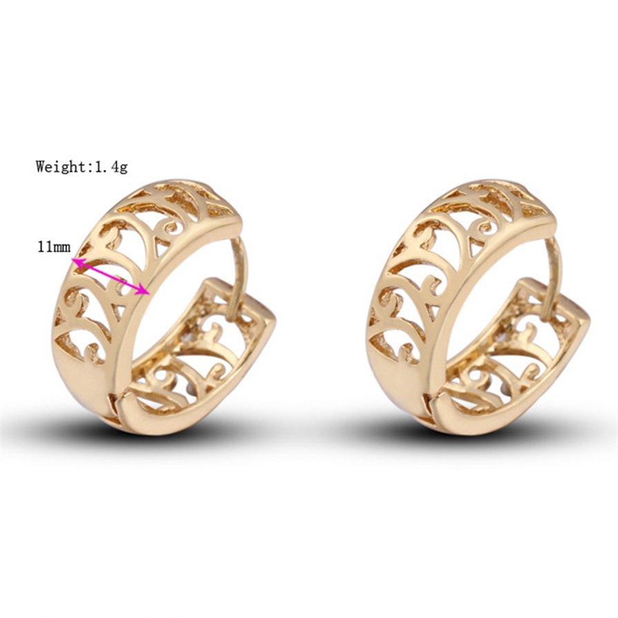 Luxury Elegant Women Lady Girls 18K Gold Plated Cutout Earrings Ear Clips #B