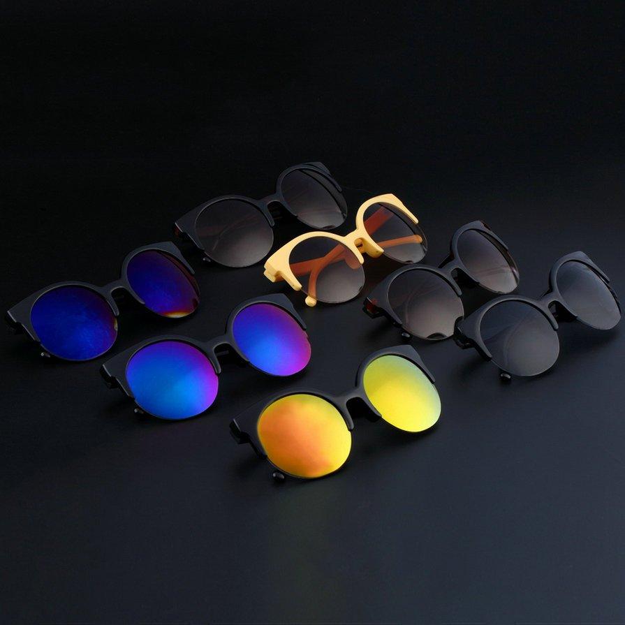 Fashion Retro Vintage Oversized Cats Eye Sunglasses Round Unisex Designer HS