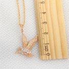 Exquisite Women Bird Animal Shape Zircon Gold-plated Pendant Necklace H5