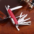 17 IN 1 Stainless Swiss Style Multifunction Tool Knife Multi Emergency Tool b#
