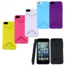 Hard Back Case Cover With ID Credit Card Slot Holder For Apple iPhone 5 5S H2