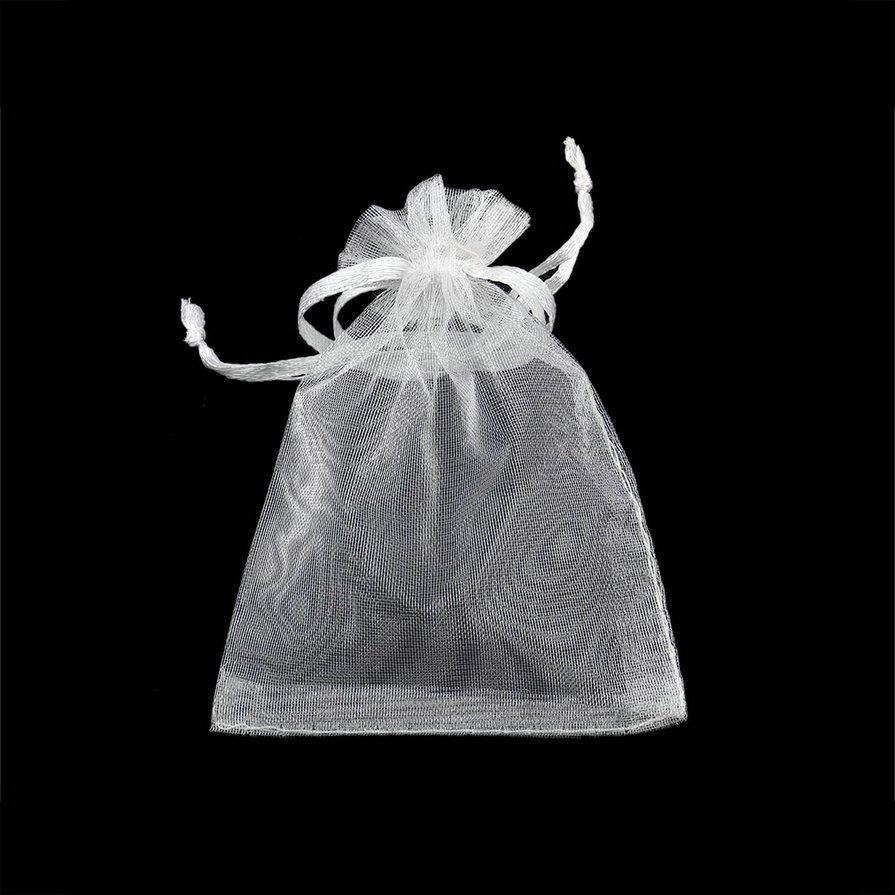 100pcs 7x9cm Drawstring Organza Pouch Gift DIY Package Jewelry Party Bags @*