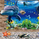 3D Ocean World Dolphins Home Removable Wall Sticker Mural Decals Decor #A