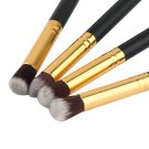 4PCS Makeup Cosmetic Tool Eyeshadow Eye Shadow Foundation Blending Brush Set HS