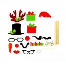 DIY 17PCS Photo Booth Prop Mustache On A Stick For Wedding Birthday Party #&