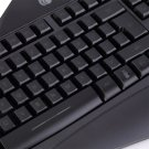 Tri-Color Wired Illuminated Backlit Ergonomic Gaming Keyboard For PC Laptop CA
