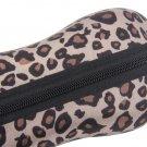 Portable Leopard Zipper Eye Glasses Sunglasses Shell Hard Case Protector Box HS