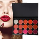 Multi-colored 15 Colors Makeup Palette Cosmetic Gloss Lipstick Lip of One Set H5