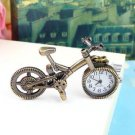 Unique Collection Bronze Alloy Bicycle Quartz Pocket Watch Pendant Necklace H5