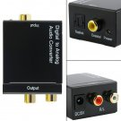 Digital Optical Coaxial Toslink Signal to Analog Audio Converter Adapter RCA HS
