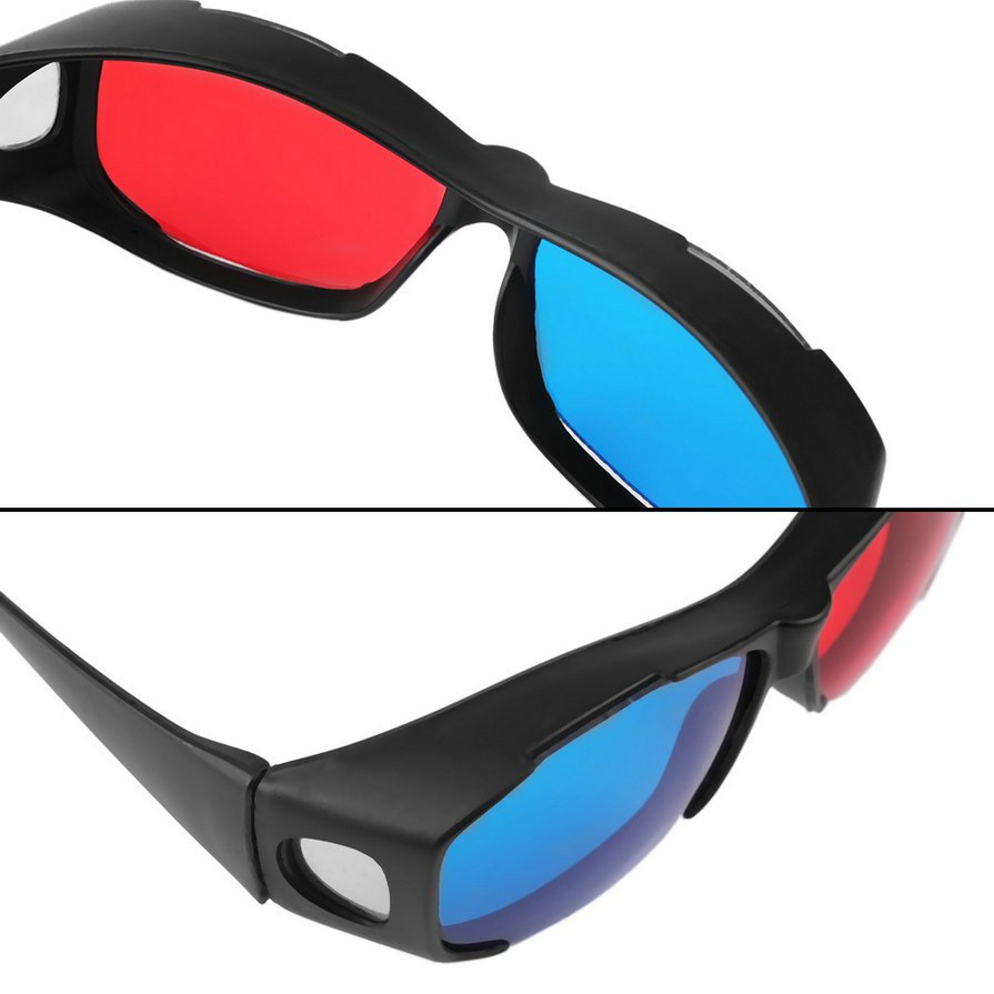 Universal3D Glasses/Red Blue Cyan 3D glasses Anaglyph 3D Plastic Glasses H2
