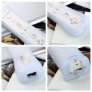 Remote Nunchuck Controller for Nintendo Wii Game + Case Skin Wireless