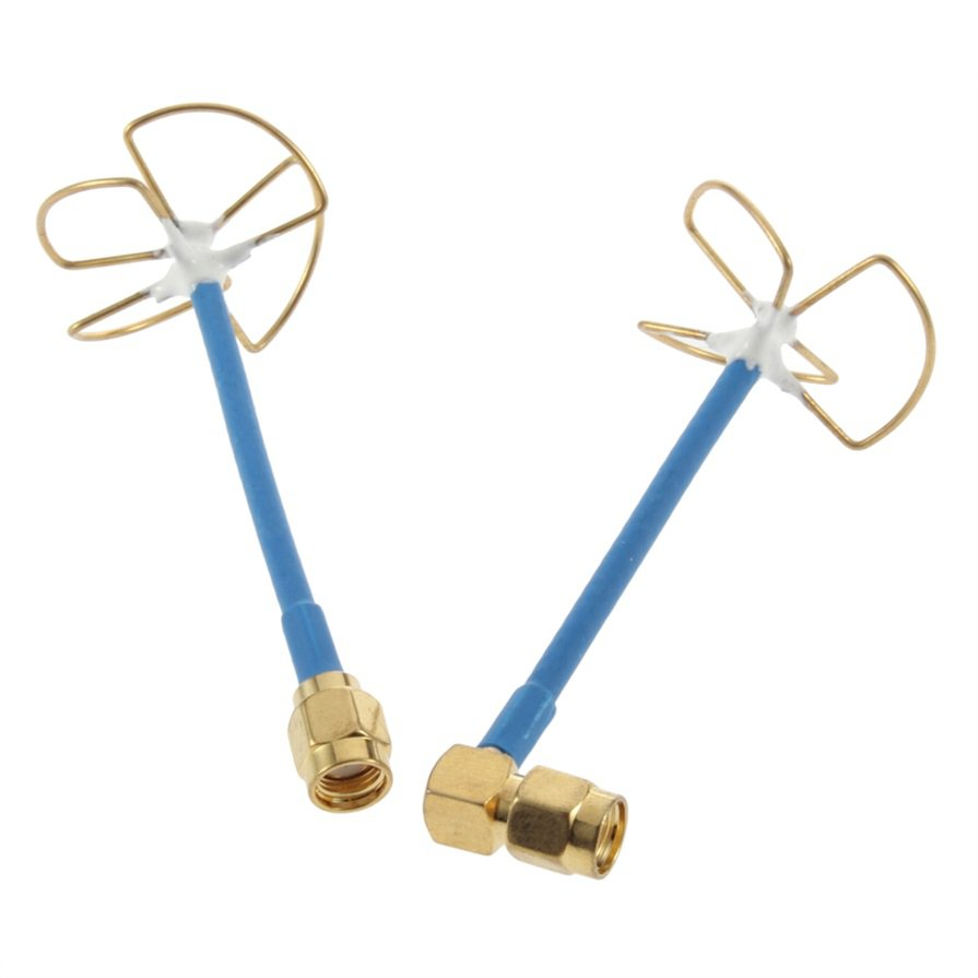 5.8G RC FPV Antenna/ Straight Inner Bore Four-leaf Clover Shape For Receiver HS