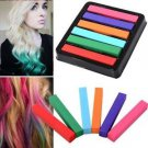 6 Colors Non-toxic Temporary Pastel Hair Square Hair Dye Color Chalk  HS