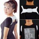 Adjustable Therapy Back Support Brace Belt Band Posture Shoulder Corrector HS