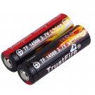 2pcs AA 14500 900mAh 3.7V Li-ion Rechargeable LED Battery New H2
