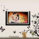 Butterflies Flying Pattern Room Sofa TV Backdrop Wall Sticker Home Decora H5