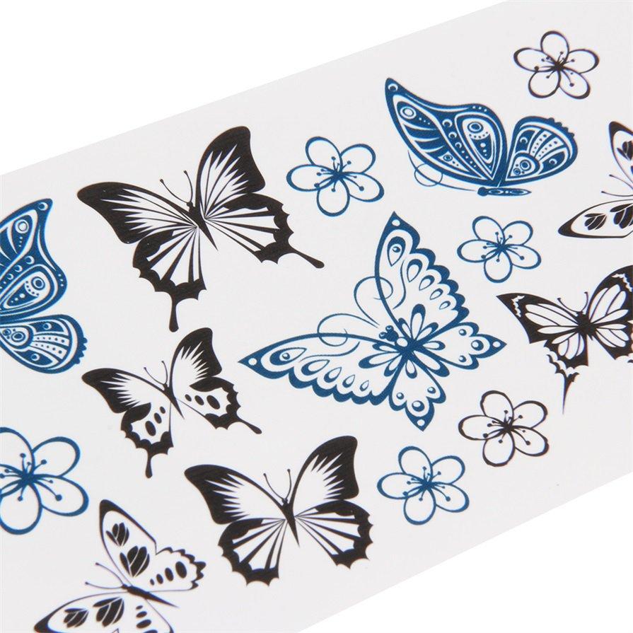 Sexy Butterfly Body Art Waterproof Elegant Temporary Tattoo Sticker DIY CA
