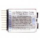 1-8S Lipo/Li-ion/Fe Battery Voltage 2IN1 Tester Low Voltage Buzzer Alarm CA