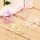 Elegant Bridal Women Faux Pearl Chain Studded Wedding Headpiece Headdress  HH