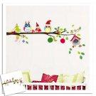 Tree Owl Wall Sticker Decor Baby Kids Room Decal Mural Christmas Decor HH