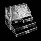 Clear Acrylic Cosmetic Organizer 4 Drawers Makeup Case Storage Holder Box HH