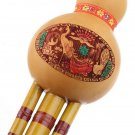 Chinese Hulusi Gourd Cucurbit Flute Bb Yunnan Ethnic Instrument with Case #h