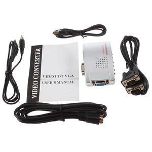 PC Laptop VGA to AV RCA TV Monitor S-video Signal Adapter Converter Switch Box S
