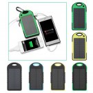 5000mAh Portable Super Solar Charger Dual USB External Battery Power Bank EVM H