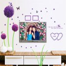 3D Removable Decals Romantic Purple Dandelion Wall Sticker DIY Home Art Decor H5