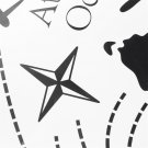 World Map PVC Art Room Wall Sticker Decal Mural Home Decor DIY Removable #*