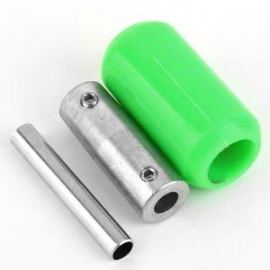 Green Silicone Soft Rubber Tattoo Machine Handle Gun Grip Tube Back Stem H2