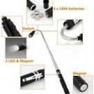 Telescopic Flexible 3 LED Torch Flashlight Magnetic Pick Up Tool Lamp Light #~