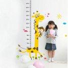Kids Height Growth Chart Cartoon Giraffe Monkey Wall Sticker Room Decor HH