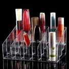 24 Trapezoid Clear Makeup Display Lipstick Stand Case Cosmetic Organizer Case HS