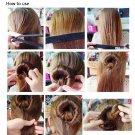 1pc Useful Hair Updo Wrap Fold Snap Bun Maker Hair Magic Styling Tool #D