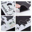 World Map Letter Removable Vinyl Decal Art Mural Home Decor Wall Stickers DIY CA