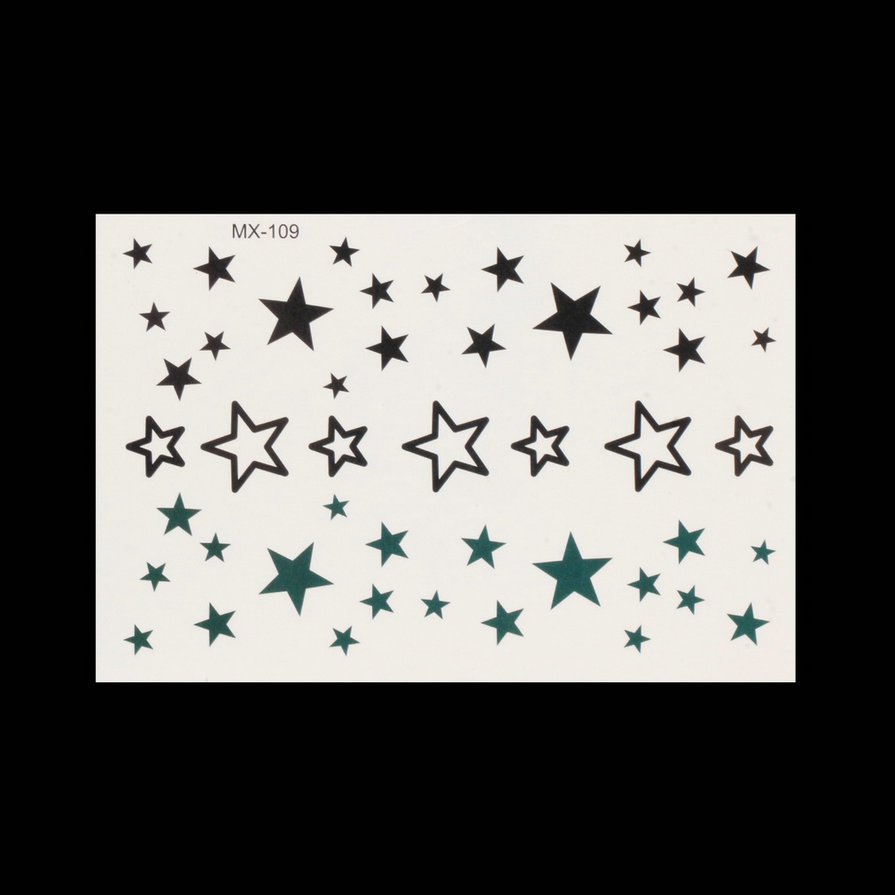 Newly Design Waterproof Temporary Body Art Five-Pointed Star Tattoo Stickers #A