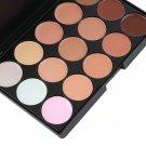 15-Colors Makeup Face Concealer Palette + 8pcs Brushes Kit + Sponge Puff HH