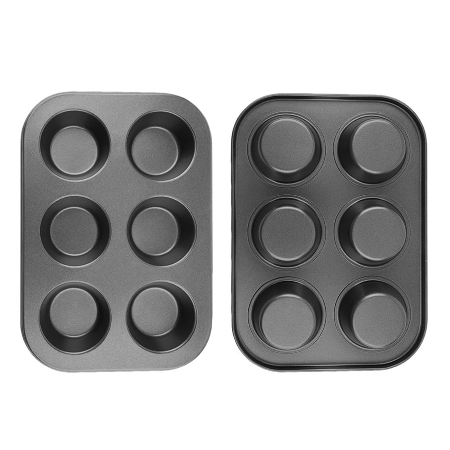 6 Cups Non Stick Muffin Cake Pan Cupcake Baking Pudding Mould Bakeware Tray #R