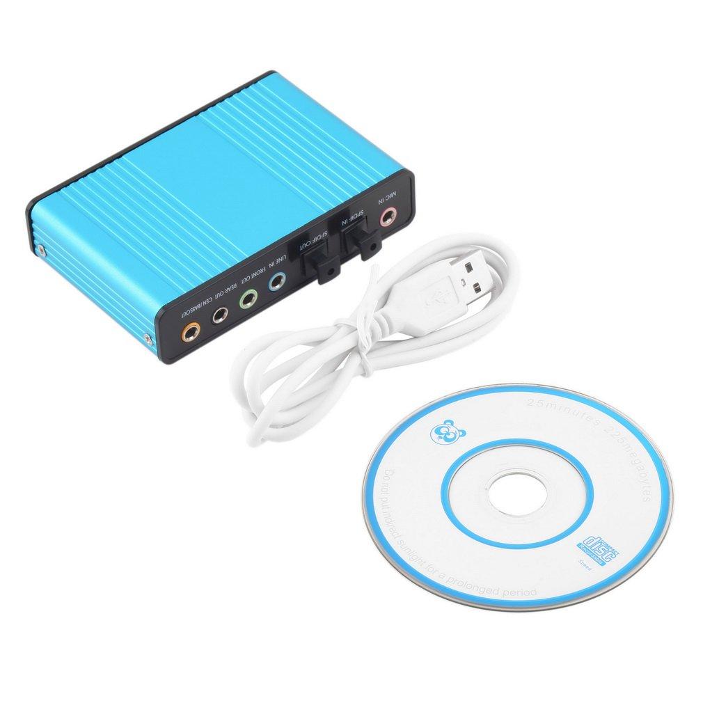 USB 6 Channel 5.1 External Optical Audio Sound Card Adapter Laptop Notebook #D