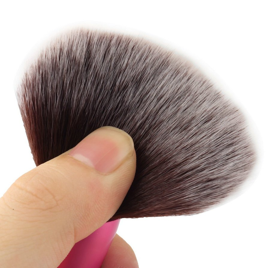 Synthetic Fiber Cosmetic Powder Blush Foundation Makeup Tapered Brushes #&