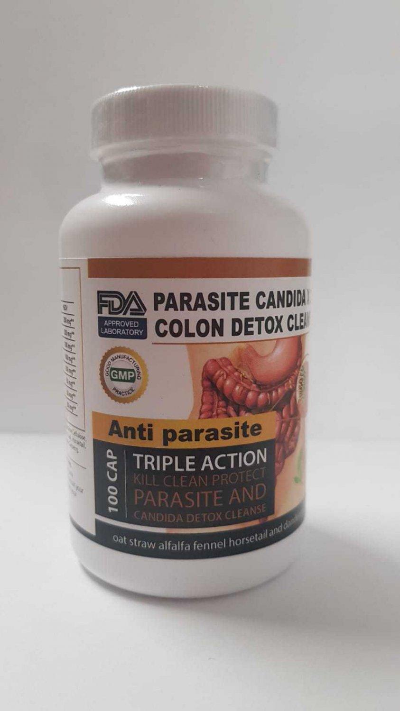 Parasite Cleanse DETOX Liver Colon Yeast Killer Pills All Natural detox candida