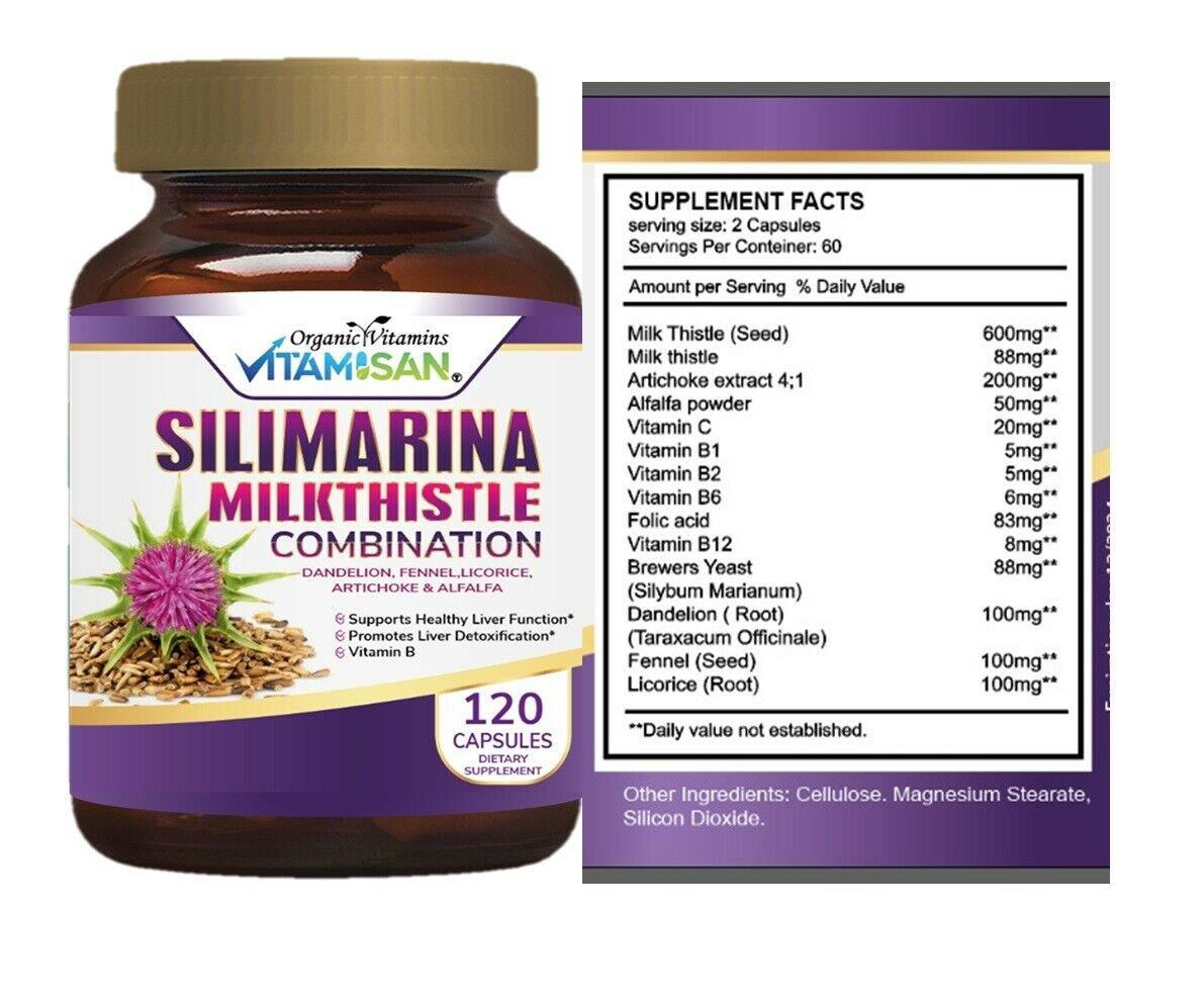 Natural Liver & Gallbladder Cleanser Detox Supplement for Liver Health 120 CAPS