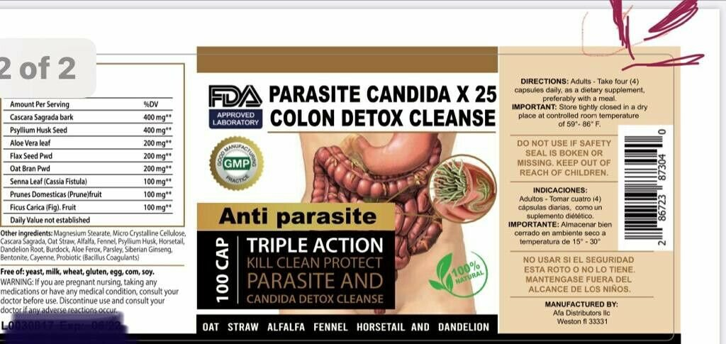 Potent Candida Cleanse Infection Treatment and with Herbs Enzymes Yeast