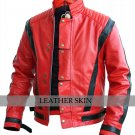 Men Red Thriller Genuine Leather Jacket Costume