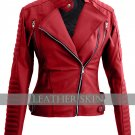 Red Brando Women Ladies Faux Leather Jacket
