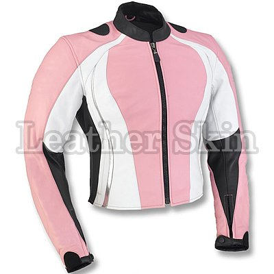 Pink Motorcycle Biker Racing Genuine Leather Jacket