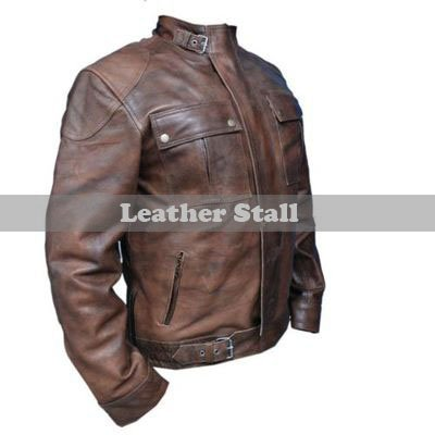 Wesley Gibson Men Brown Leather Jacket
