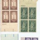 US Scott #1035,1100,1127,1132,1134 Plate blocks MNH